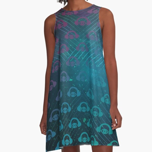 The Sights And Sounds Space Geometry A-Line Dress