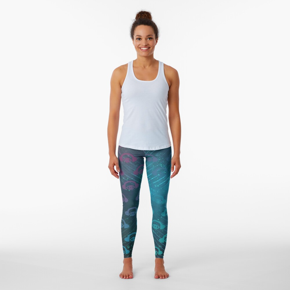 The Sights And Sounds Space Geometry Leggings