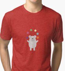 Polar Bear juggling Tri-blend T-Shirt