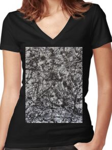 No. 6 Women's Fitted V-Neck T-Shirt
