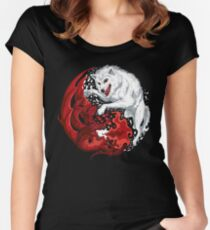 Dragon and Wolf Women's Fitted Scoop T-Shirt