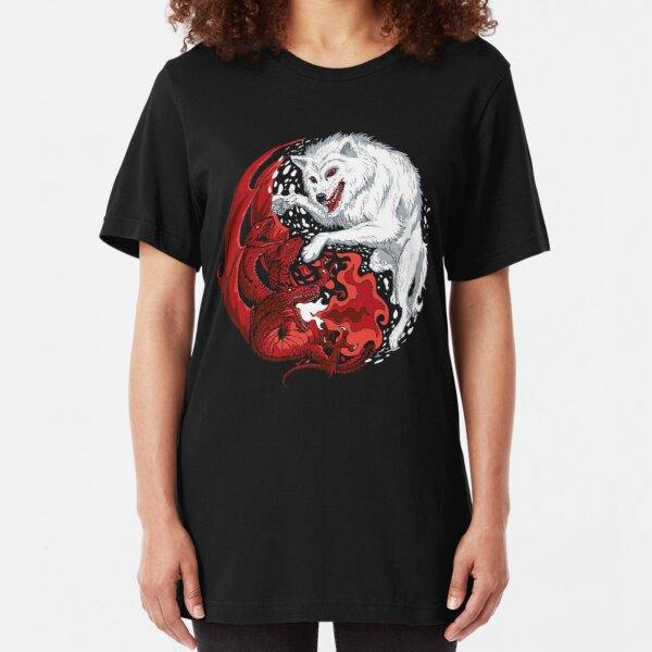 T-Shirt 3D Printed Halloween with Raven Bird and Wolf On Red Casual Tees