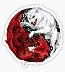 Dragon and Wolf Sticker