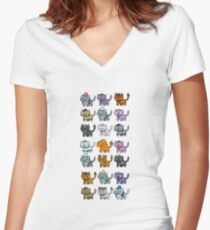 Neko Atsume Feral Druid Todos Women's Fitted V-Neck T-Shirt