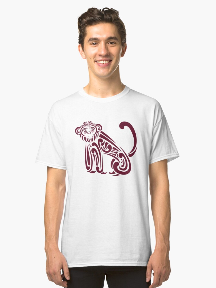 french curve monkey Classic T-Shirt Front