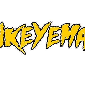 HAWKEYEMANIA (Gold Text w/ Black Outline) by hawkeyemania