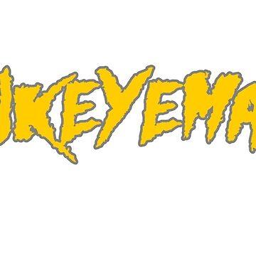 HAWKEYEMANIA (Gold Text w/ Gray Outline) by hawkeyemania