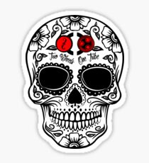 Two Wheels Sugarskull Sticker