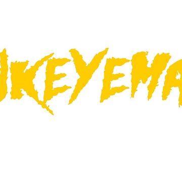 HAWKEYEMANIA (Gold Text w/ White Outline) by hawkeyemania