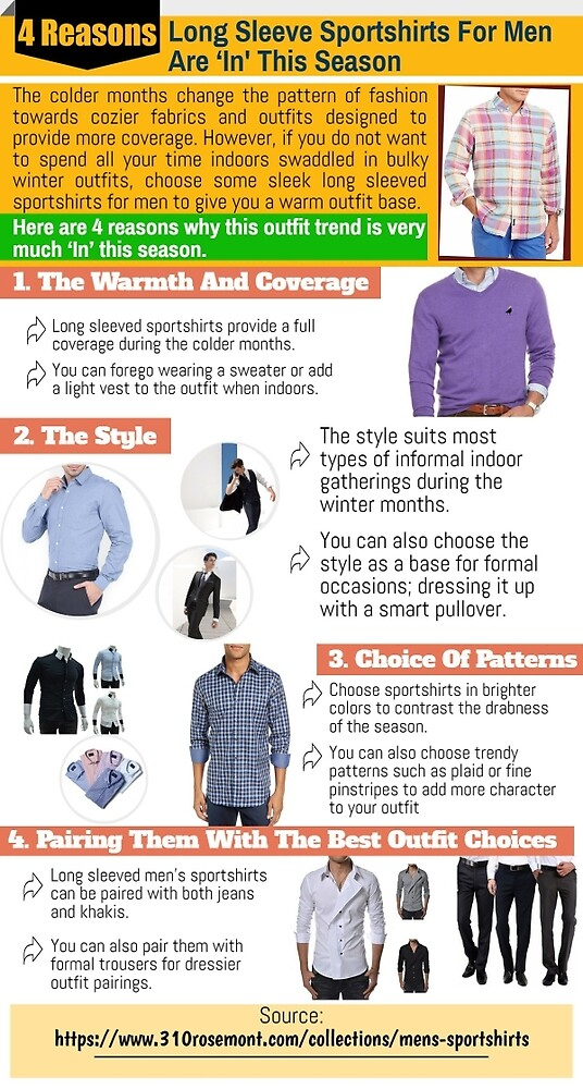 Long Sleeve Sport shirts for men make them more fashionable by Philliplewise