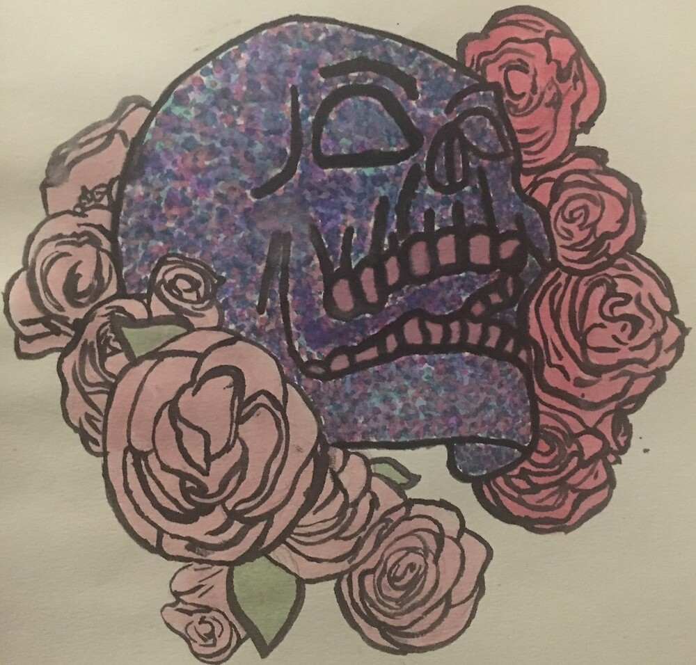 colorful skull by hannahsierra14