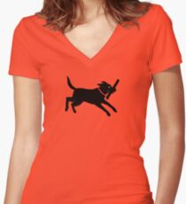 Happy Lab Women's Fitted V-Neck T-Shirt