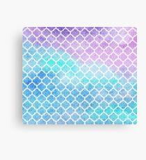 Faded gentle azure moroccan tiles Canvas Print