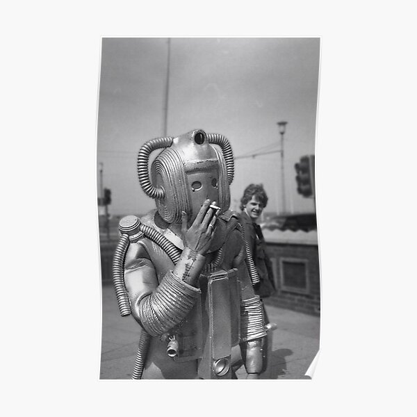Smoking Cyberman Poster