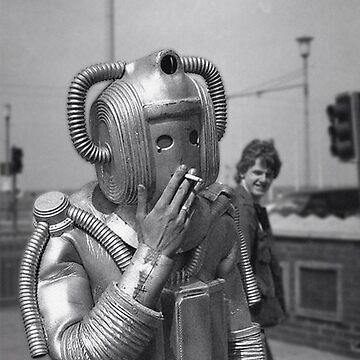 Smoking Cyberman by DickChappy01