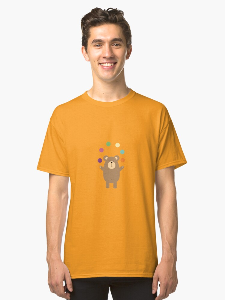 Brown Bear juggling Classic T-Shirt Front