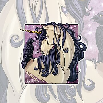 Gothic Unicorn and Raven iPhone Case by cybercat