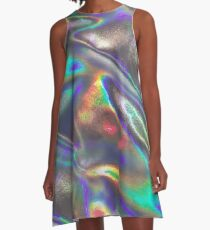 holographic A-Line Dress