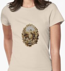 Victorian scrap t-shirt design Womens Fitted T-Shirt