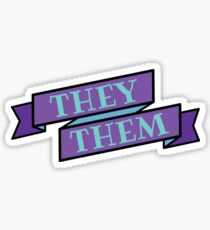 they/them pronouns Sticker