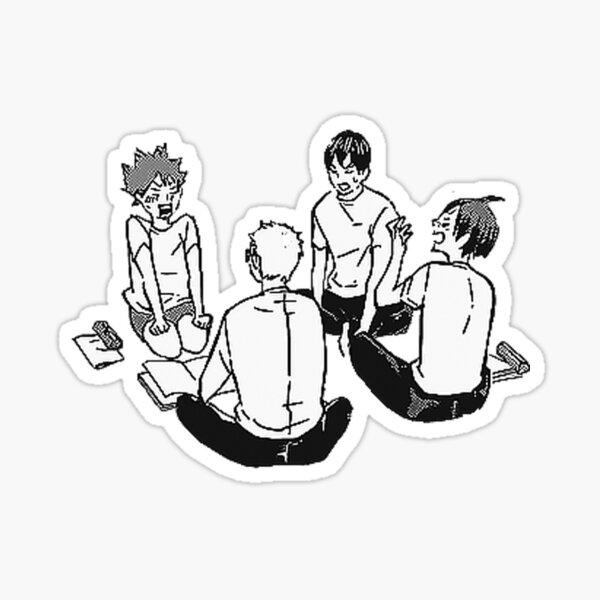 Haikyuu first year stickers