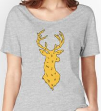 orange on blue deer Women's Relaxed Fit T-Shirt