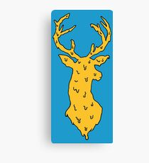 orange on blue deer Canvas Print