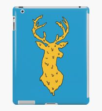 orange on blue deer iPad Case/Skin
