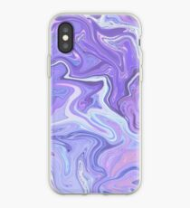 Purple Paint Holographic iPhone Case