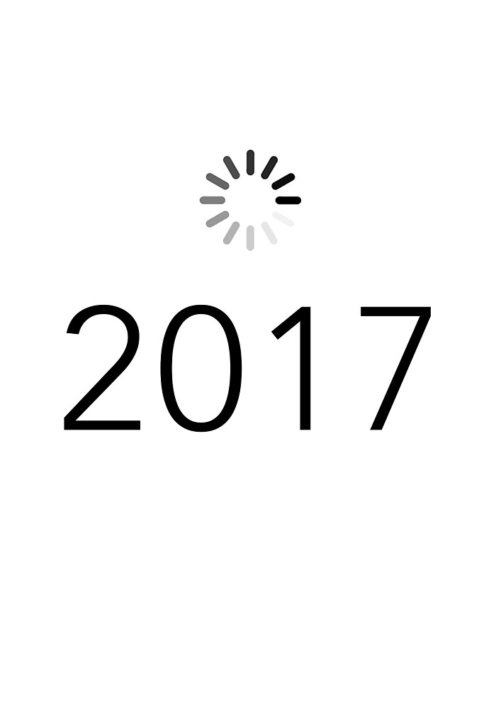 Happy New 2017 Year !! Loading sign by Eitwee