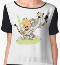 Calvin and Hobbes Star Wars Chiffon Top