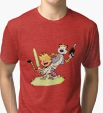 Calvin and Hobbes Star Wars Tri-blend T-Shirt