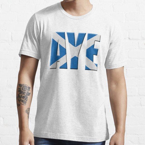 Scottish flag Vote Aye Essential T-Shirt