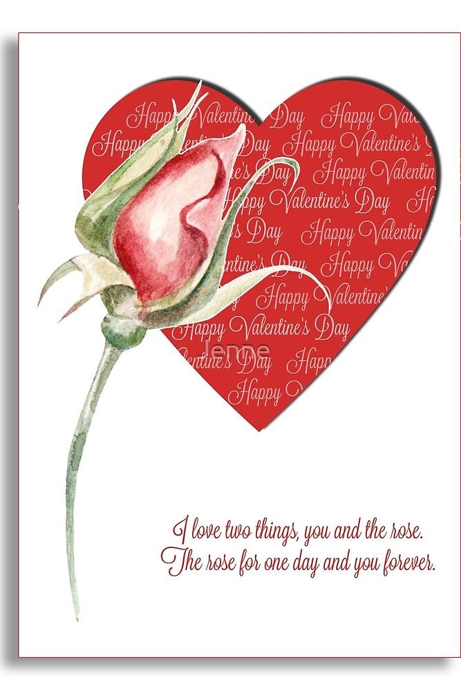 I love you and the rose .... by Jenne