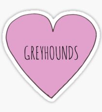 Greyhound Love Sticker