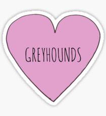 Greyhound Love Sticker