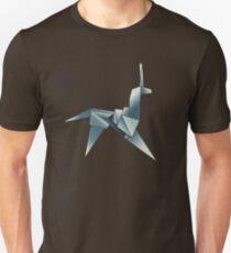Origami Einhorn Slim Fit T-Shirt