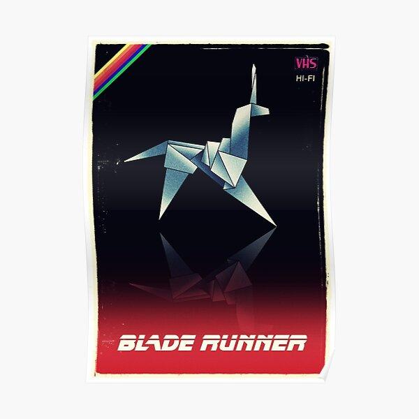 Origami unicorn VHS Poster