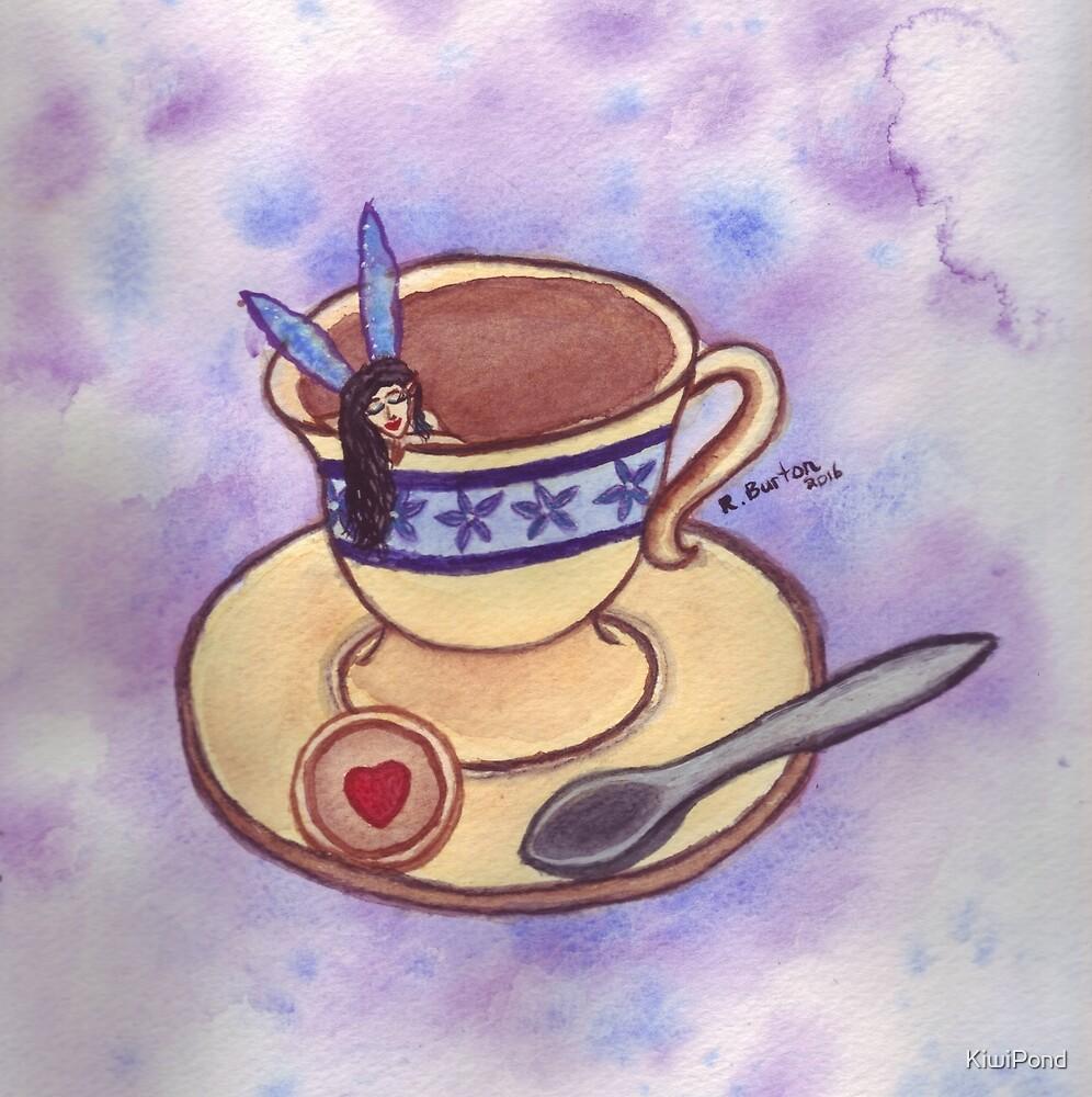 Sleepy Teatime Fairy by KiwiPond