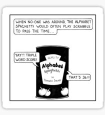 Alphabet Spaghetti Sticker