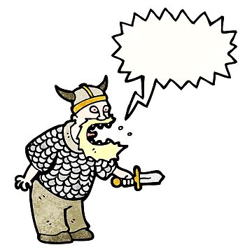 shouting viking cartoon by octoberarts