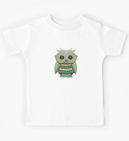 Star Eye Owl - Green 3 Kids Clothes