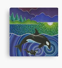 Orca Sonic Love Canvas Print