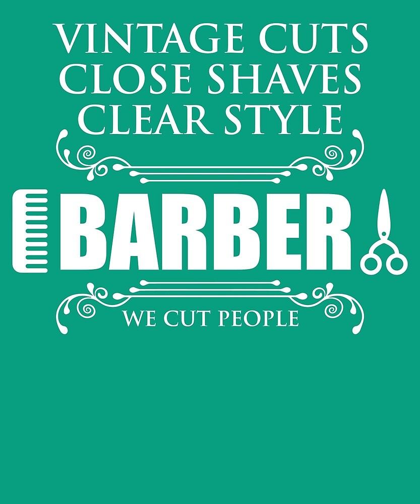 Vintage Barber We Cut People by AlwaysAwesome