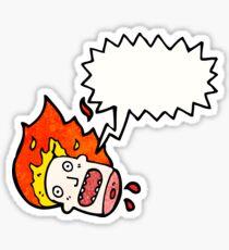 halloween head cartoon Sticker