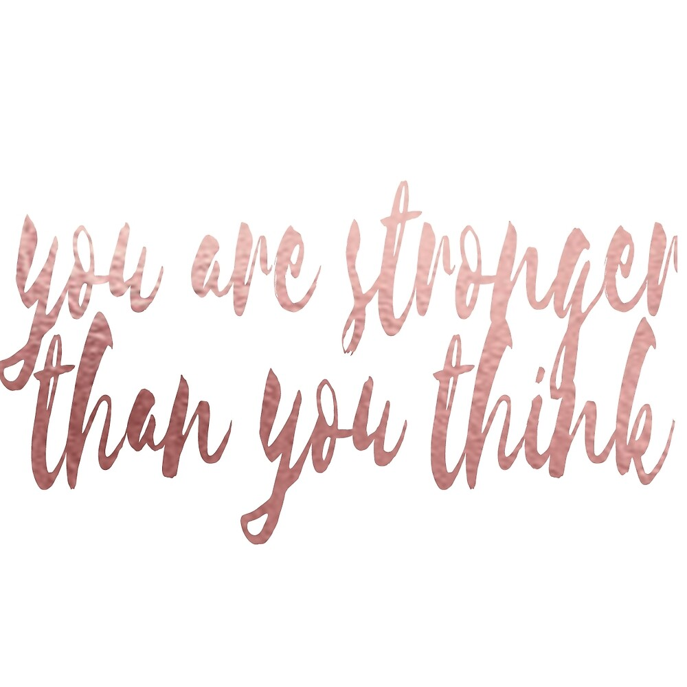 you are stronger than you think by samanthafelten