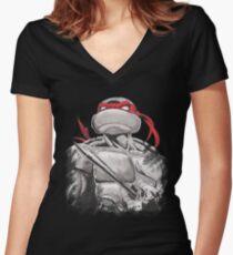 The Dangerous One Raphael TMNT Women's Fitted V-Neck T-Shirt