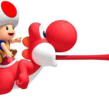 Toad riding on Yoshi by po4life
