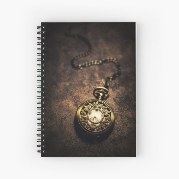 Ornamented pocket watch Spiral Notebook