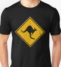 Road sign - Kangaroos ahead T-Shirt